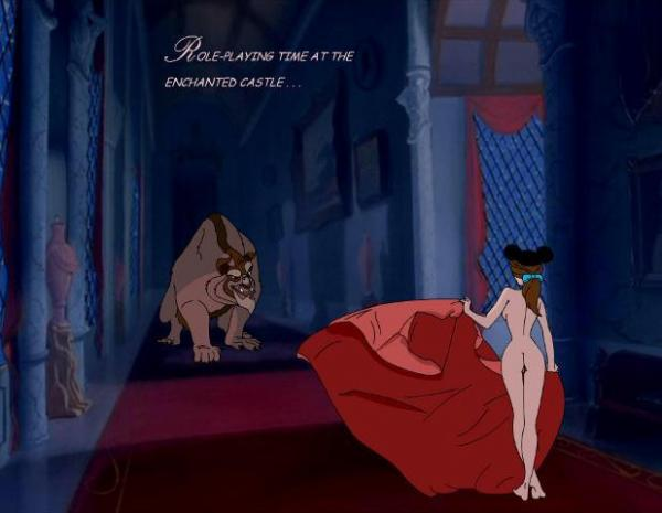 Disney Cartoon Xxx. Curvaceous slut from Beauty and the Beast series is ...